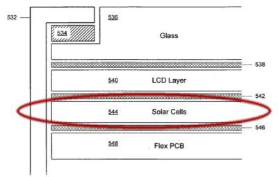 solární články v přenosných zařízeních Apple
