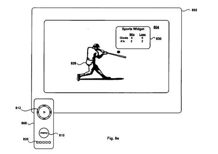 Apple TV widgets patent