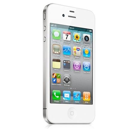 bílý iPhone 4