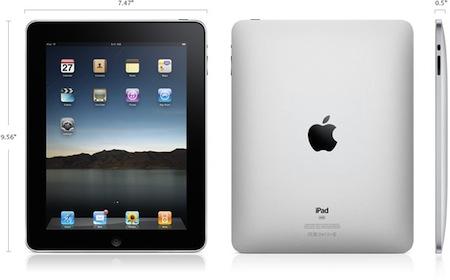Apple iPad rozměry