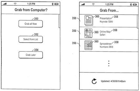 iPhone přenos dat patent