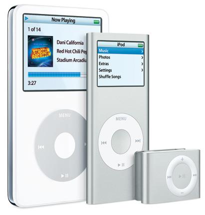 iPod MP3 přehrávače