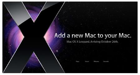 Mac OS X 10.5 Leopard vyjde 26. října