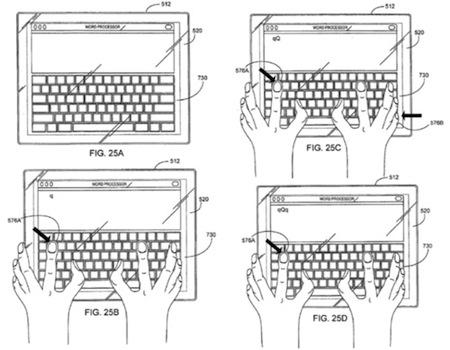 Apple Tablet - klávesnice - ovládání