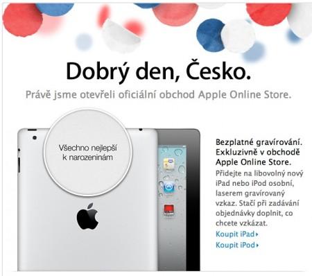Apple Store online obchod také pro ČR